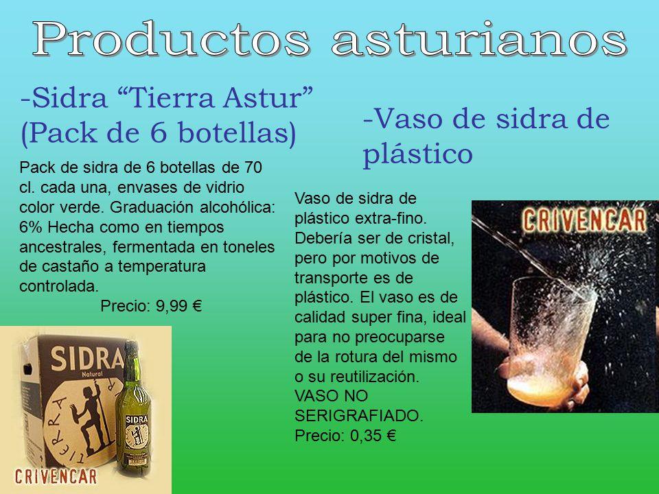 Productos asturianos -Sidra Tierra Astur (Pack de 6 botellas)