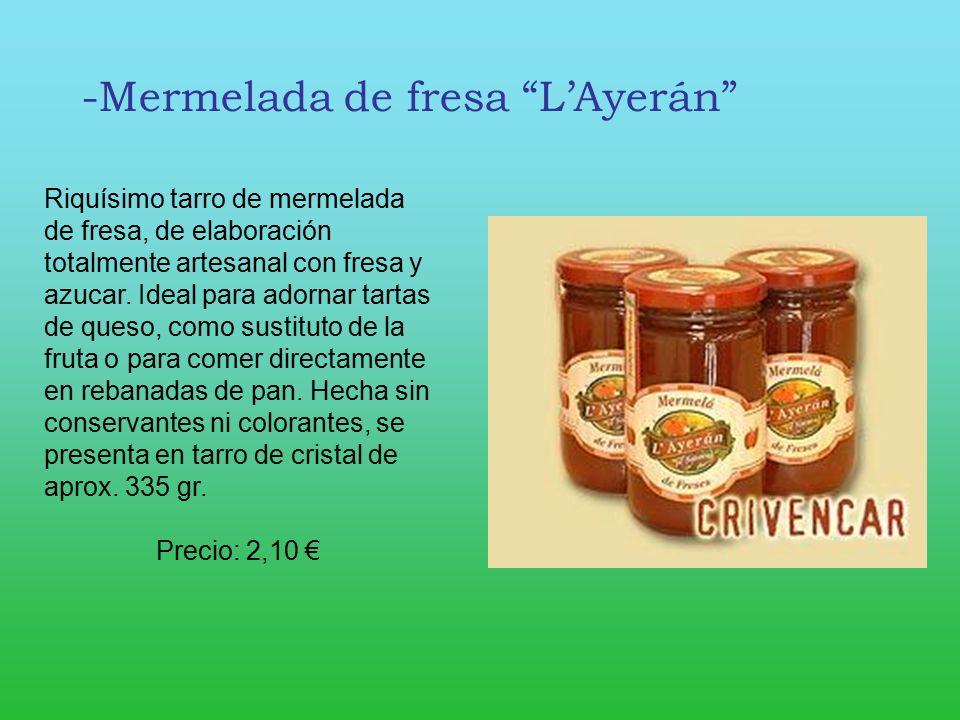 -Mermelada de fresa L'Ayerán