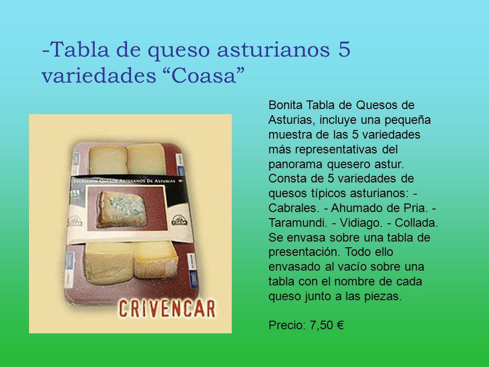 -Tabla de queso asturianos 5 variedades Coasa