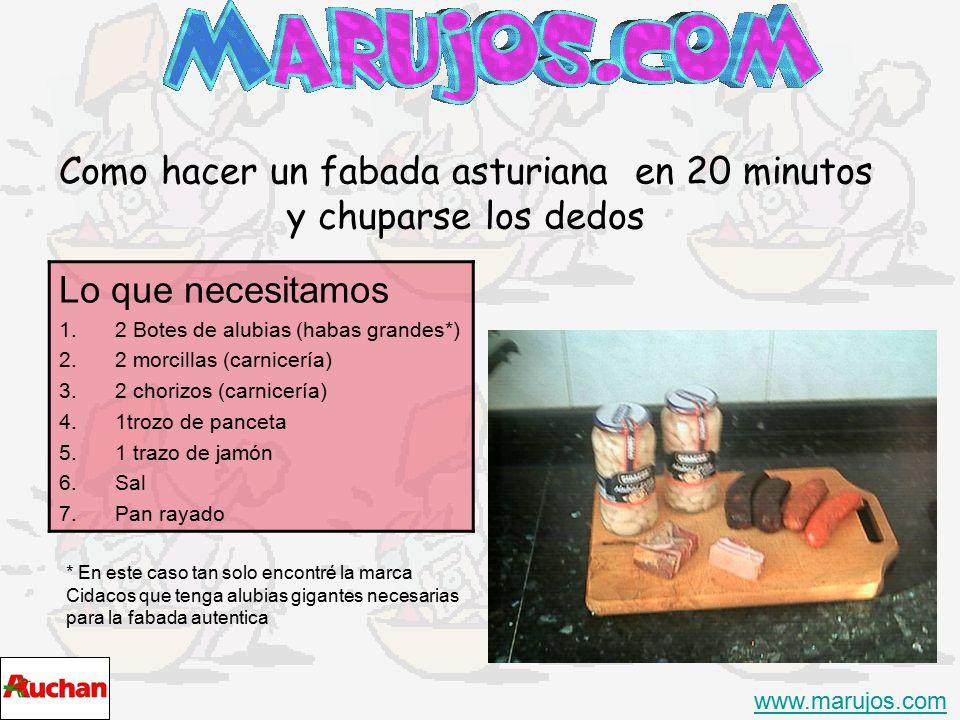 Como hacer un fabada asturiana en 20 minutos y chuparse los dedos