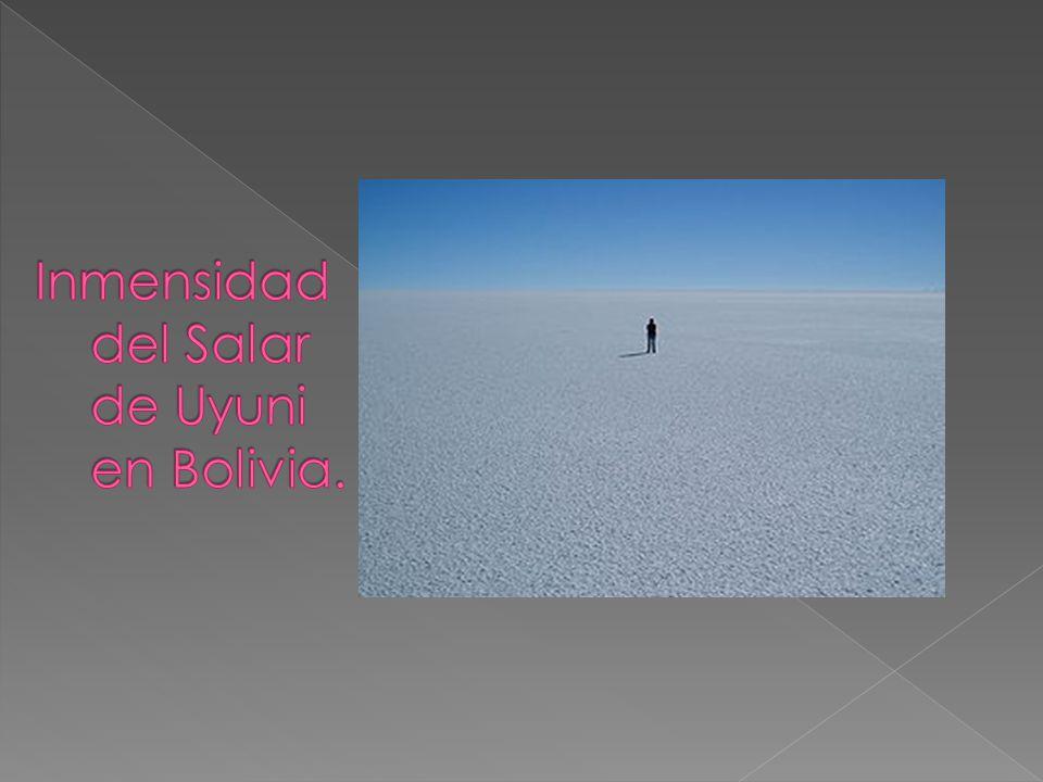 Inmensidad del Salar de Uyuni en Bolivia.