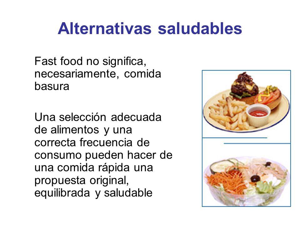 Alternativas saludables