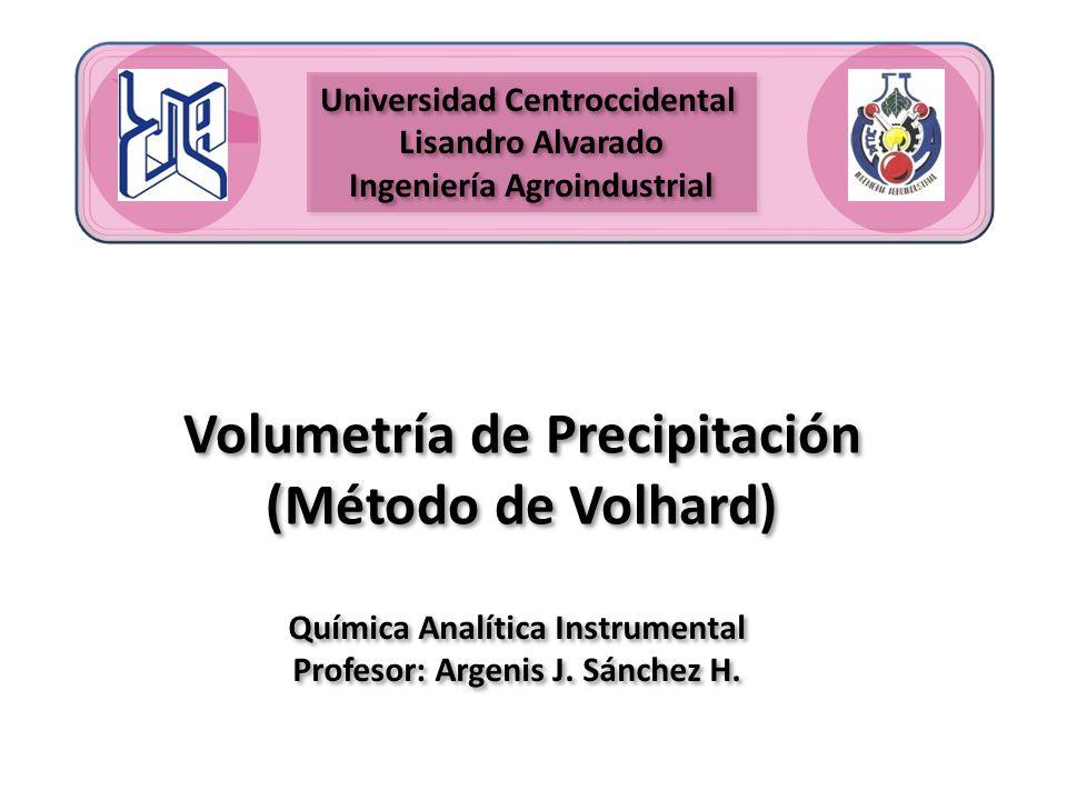 Volumetría de Precipitación (Método de Volhard)