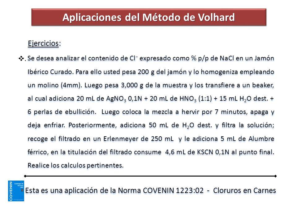 Aplicaciones del Método de Volhard