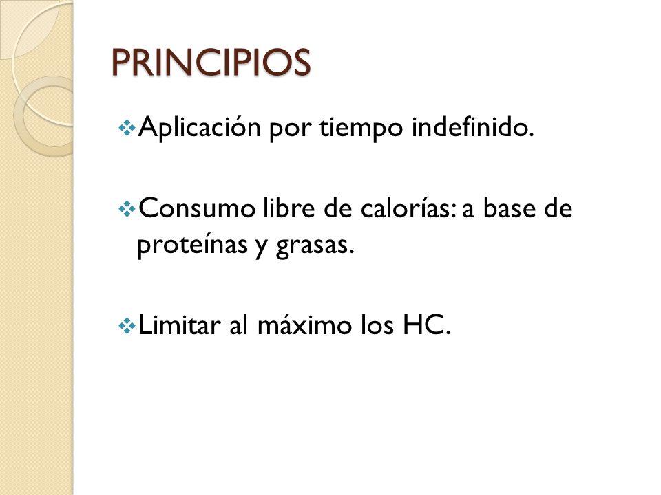 PRINCIPIOS Aplicación por tiempo indefinido.