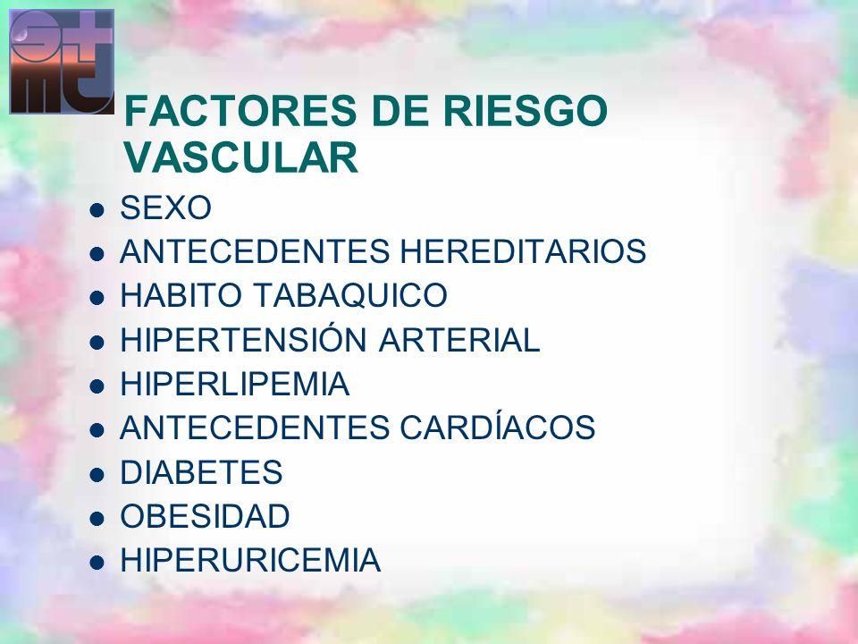 FACTORES DE RIESGO VASCULAR