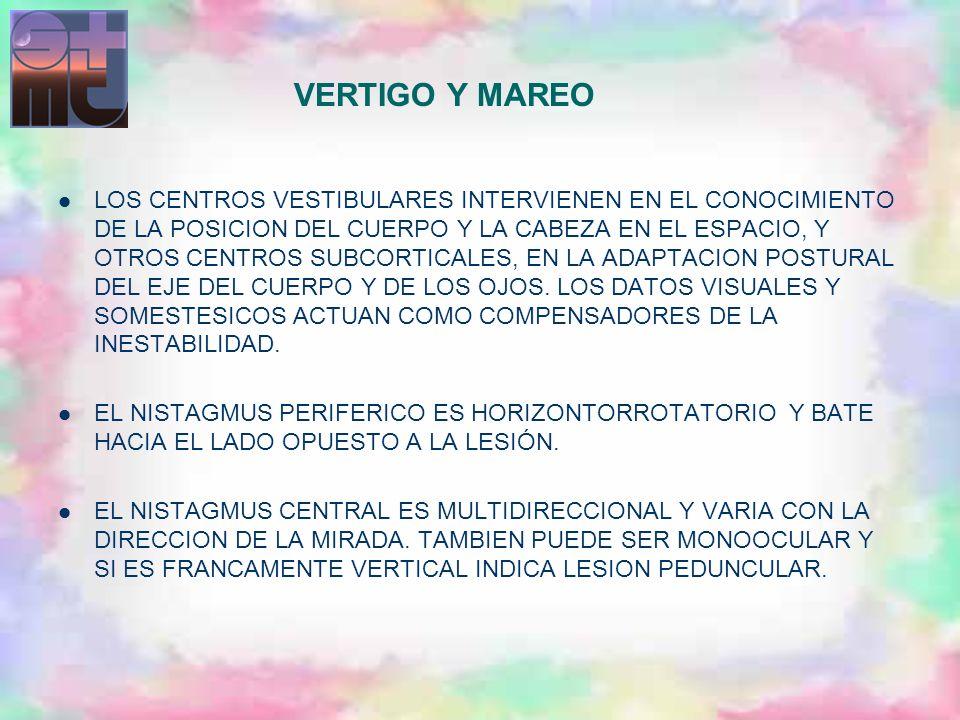 VERTIGO Y MAREO