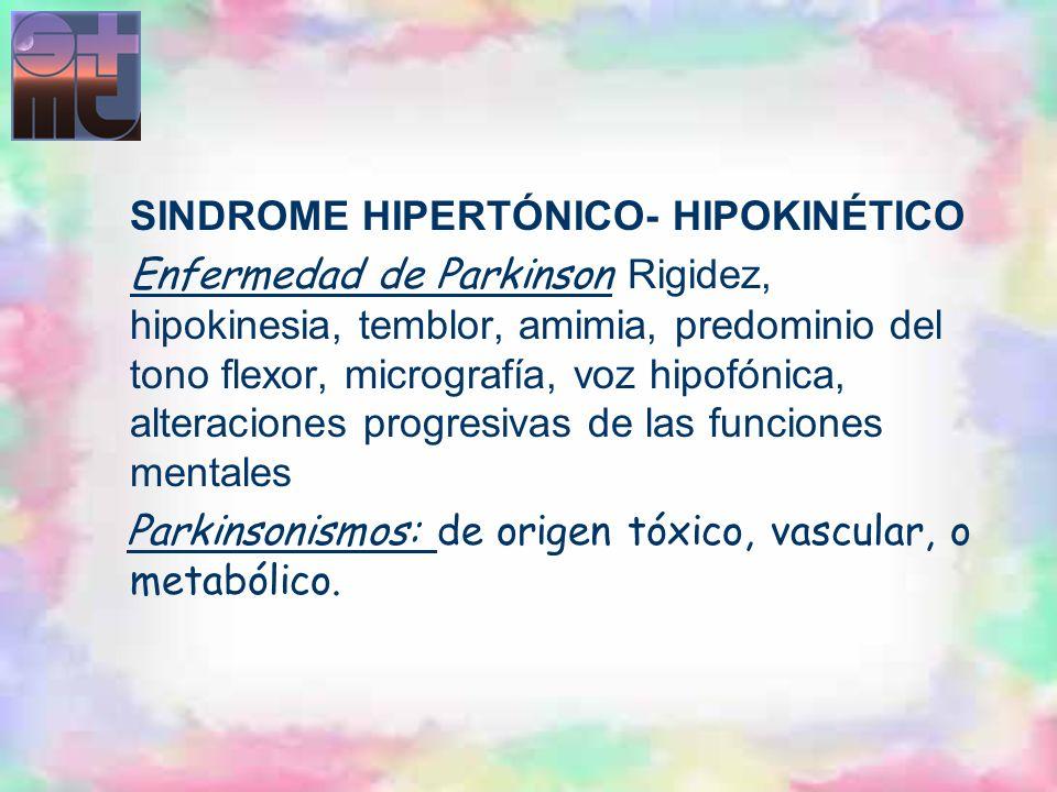 SINDROME HIPERTÓNICO- HIPOKINÉTICO