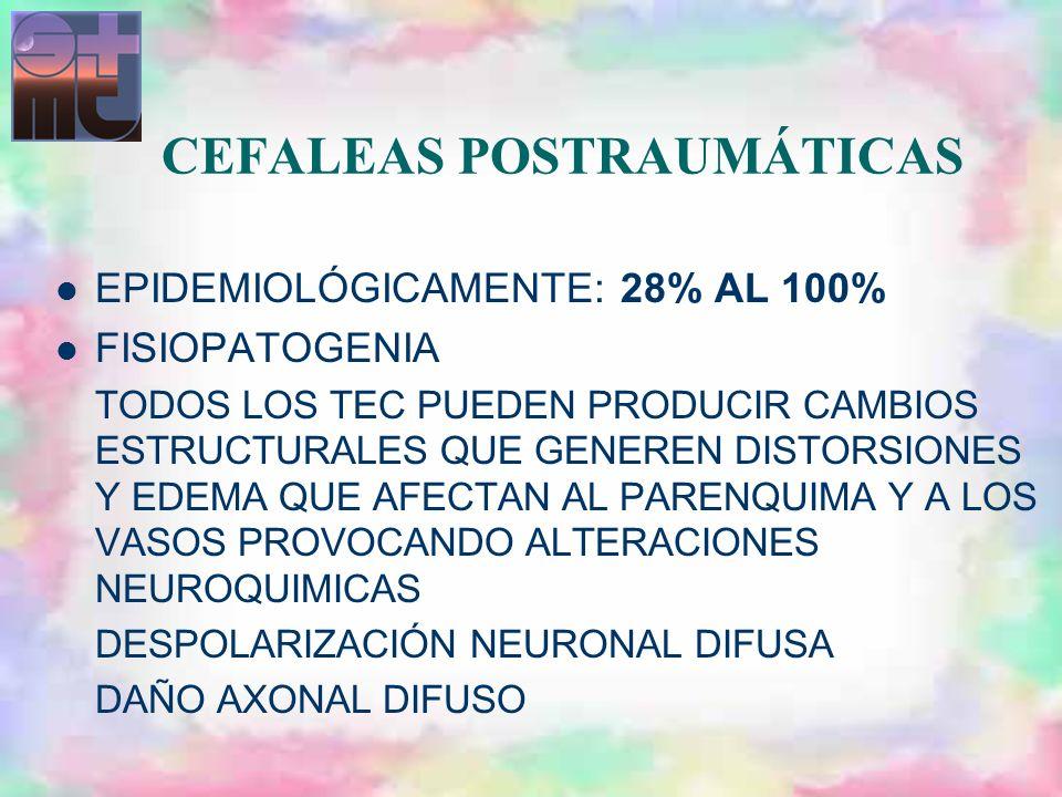 CEFALEAS POSTRAUMÁTICAS