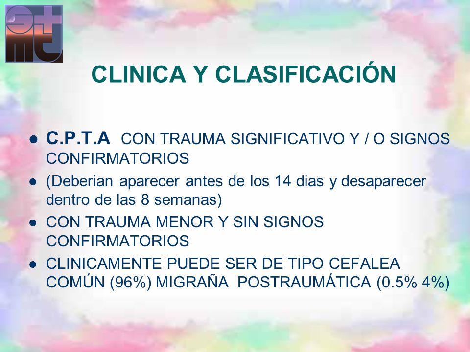 CLINICA Y CLASIFICACIÓN