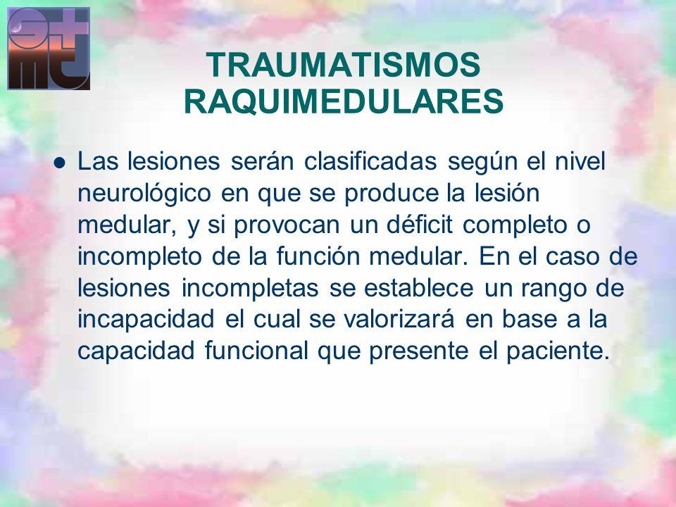 TRAUMATISMOS RAQUIMEDULARES