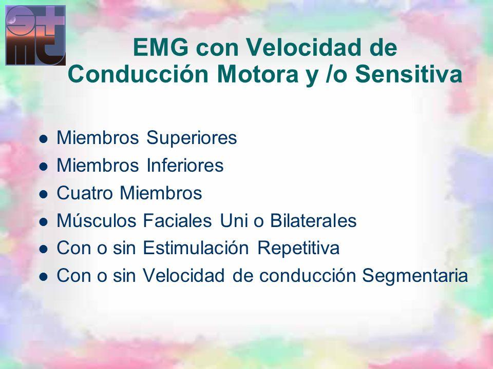 EMG con Velocidad de Conducción Motora y /o Sensitiva