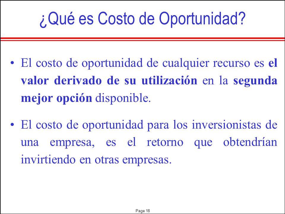 ¿Qué es Costo de Oportunidad