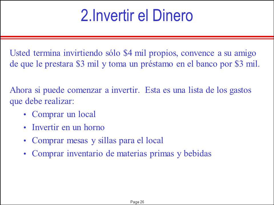2.Invertir el Dinero