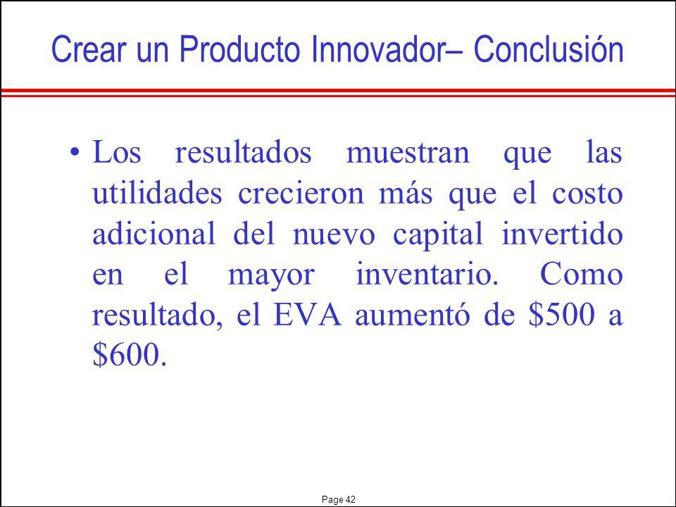 Crear un Producto Innovador– Conclusión