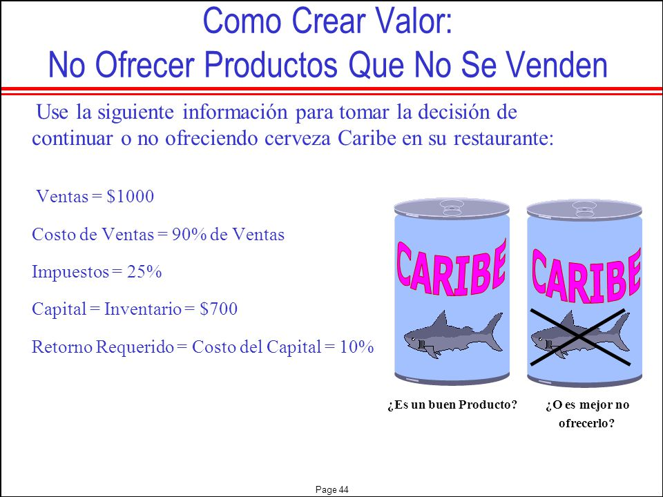 Como Crear Valor: No Ofrecer Productos Que No Se Venden