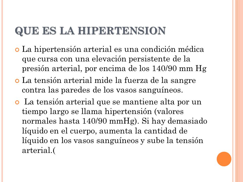 QUE ES LA HIPERTENSION