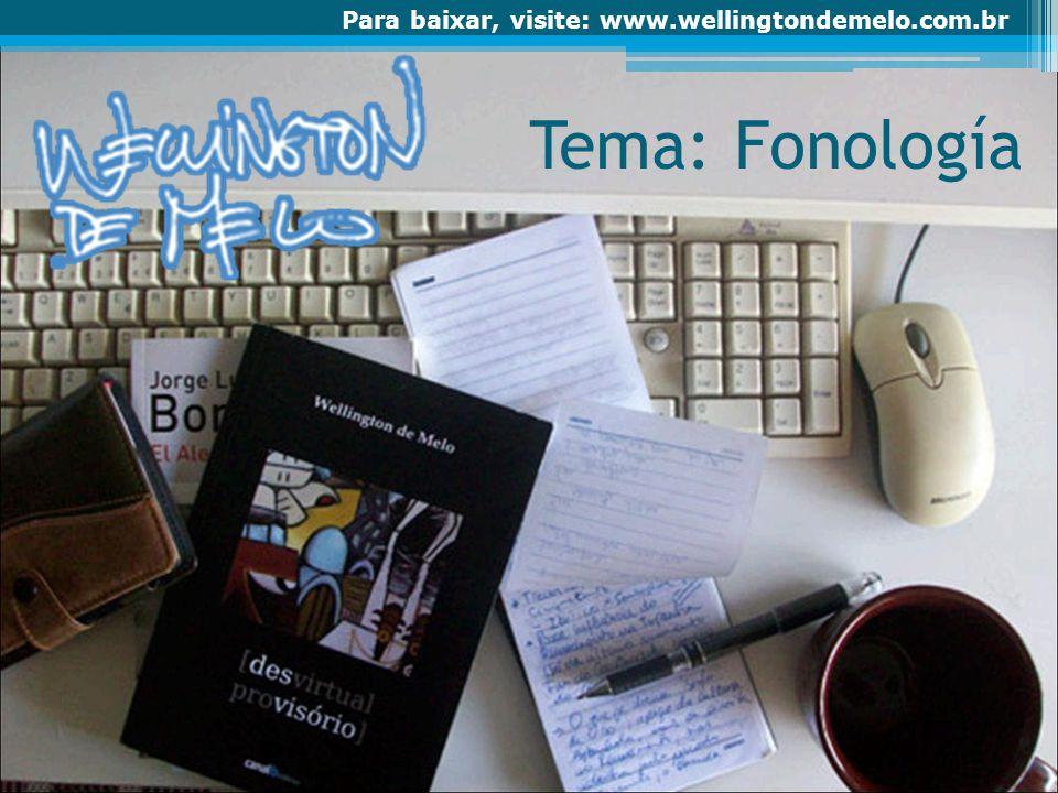 Tema: Fonología
