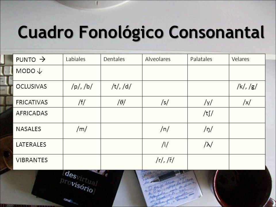 Cuadro Fonológico Consonantal