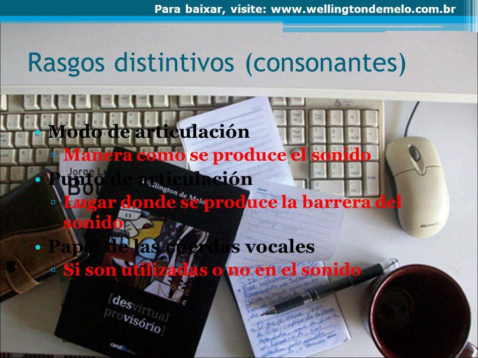 Rasgos distintivos (consonantes)