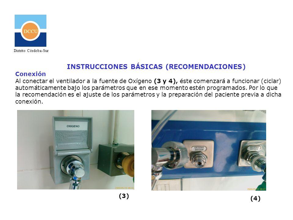 INSTRUCCIONES BÁSICAS (RECOMENDACIONES)