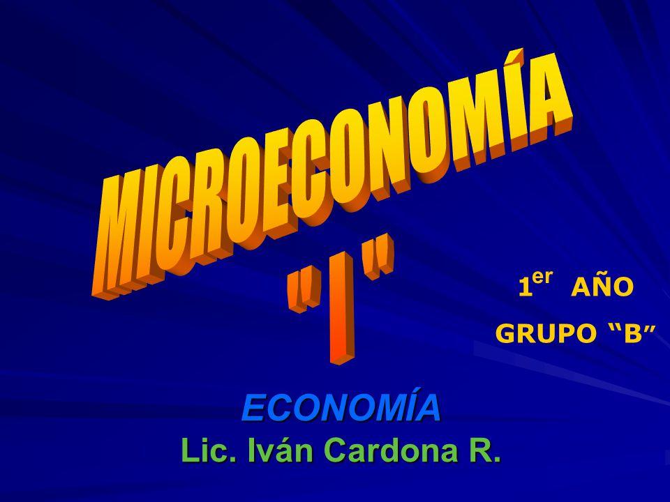 ECONOMÍA Lic. Iván Cardona R.