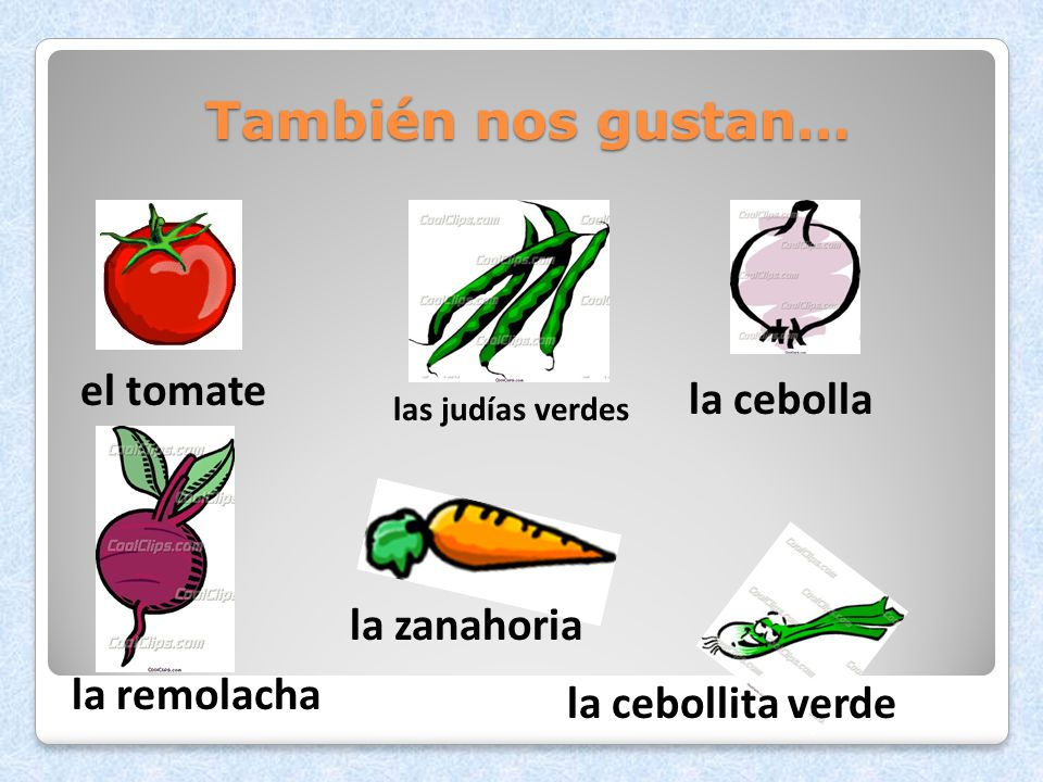 También nos gustan… el tomate la cebolla la zanahoria la remolacha