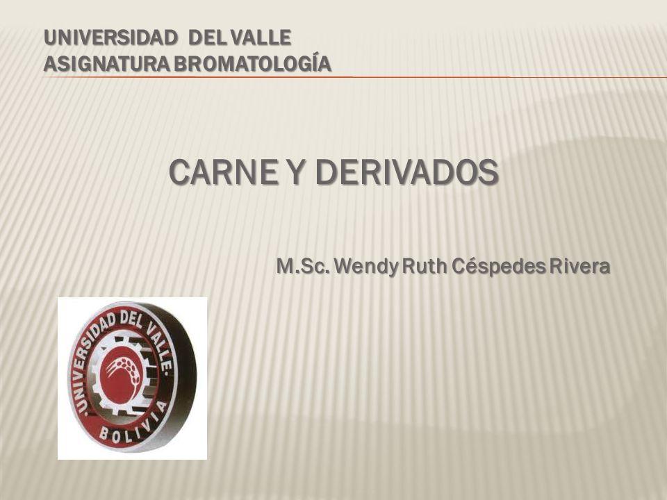 Universidad del valle Asignatura bromatología