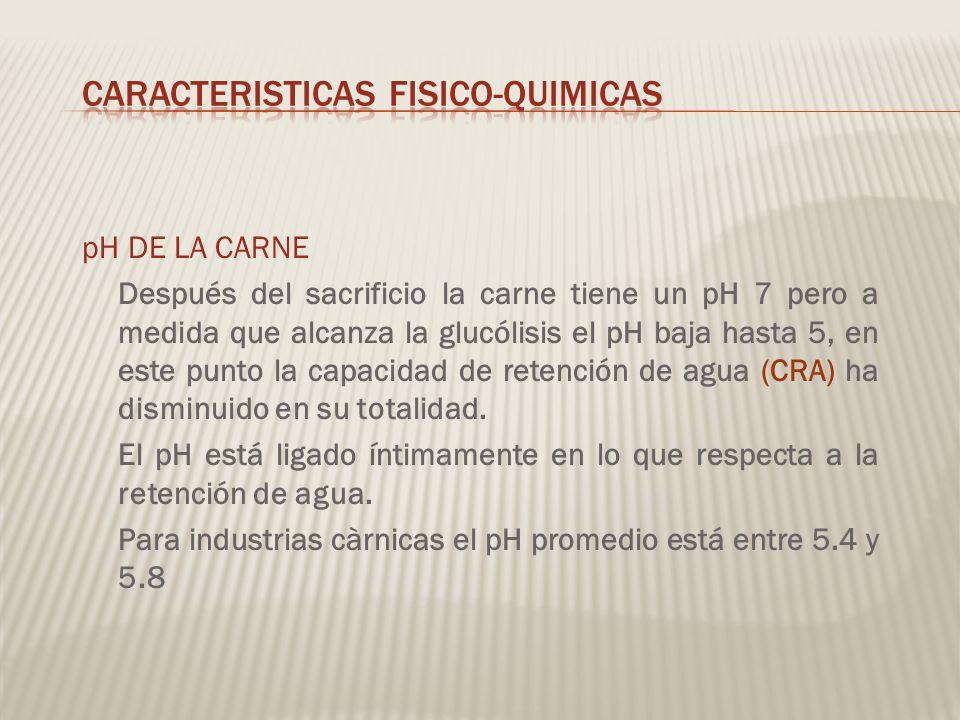 CARACTERISTICAS FISICO-QUIMICAS