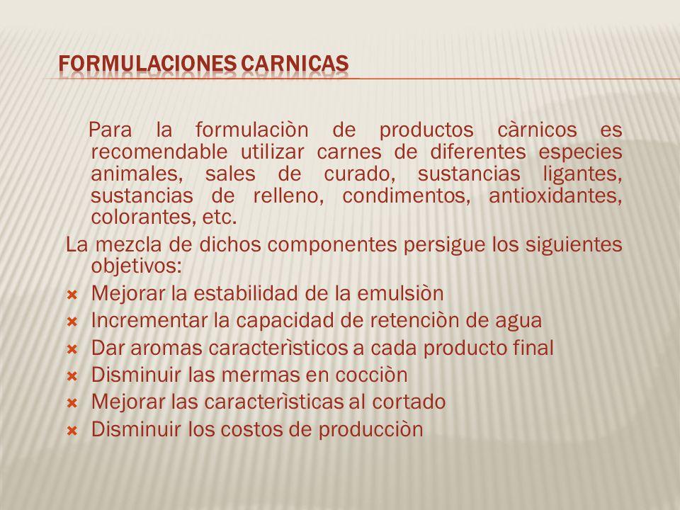 FORMULACIONES CARNICAS