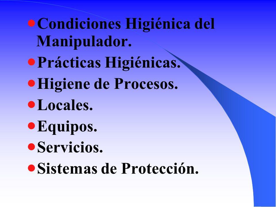 Condiciones Higiénica del Manipulador.