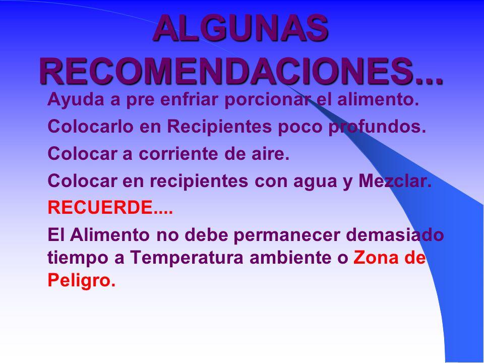 ALGUNAS RECOMENDACIONES...