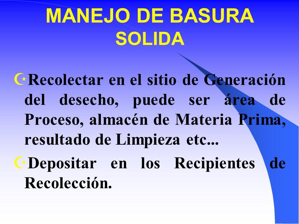 MANEJO DE BASURA SOLIDA