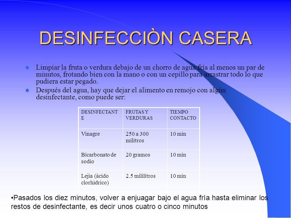 DESINFECCIÒN CASERA
