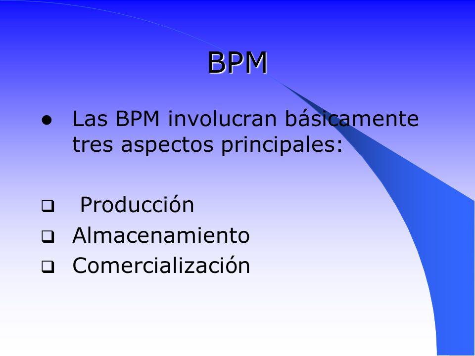 BPM Las BPM involucran básicamente tres aspectos principales: