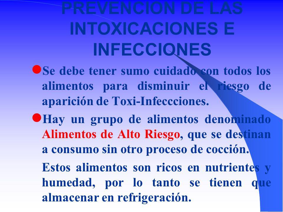 PREVENCION DE LAS INTOXICACIONES E INFECCIONES