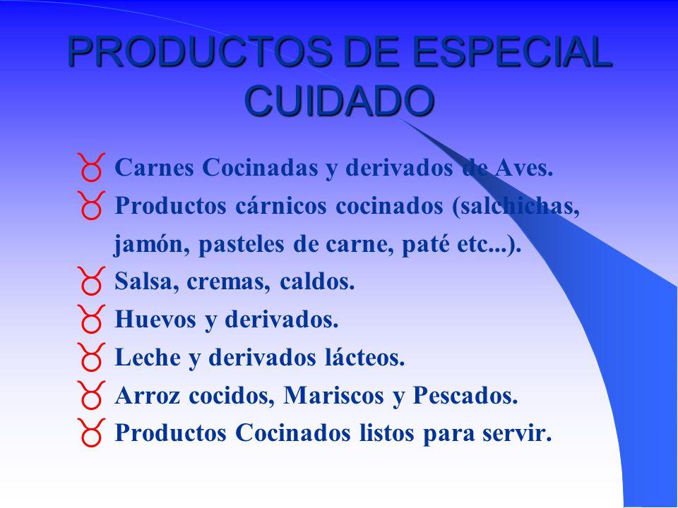 PRODUCTOS DE ESPECIAL CUIDADO
