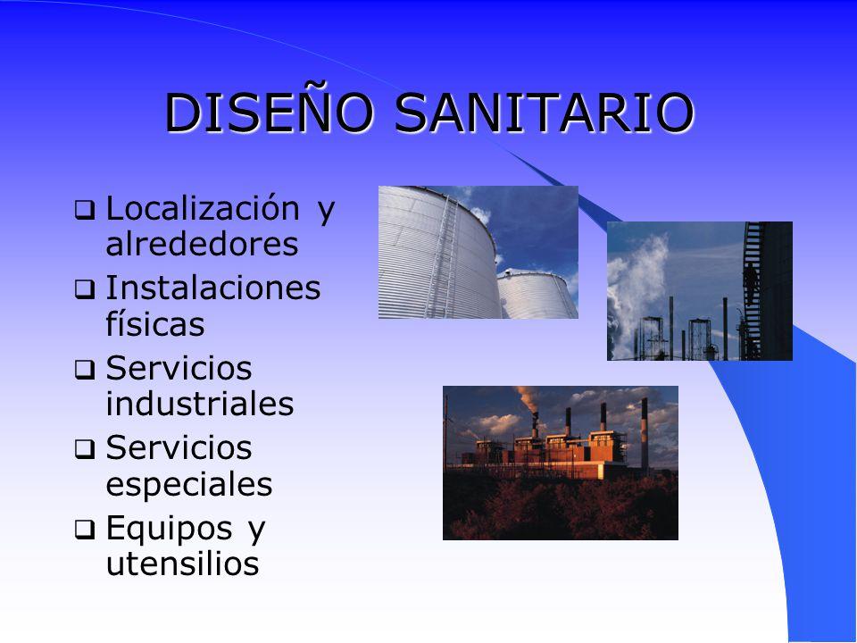 DISEÑO SANITARIO Localización y alrededores Instalaciones físicas