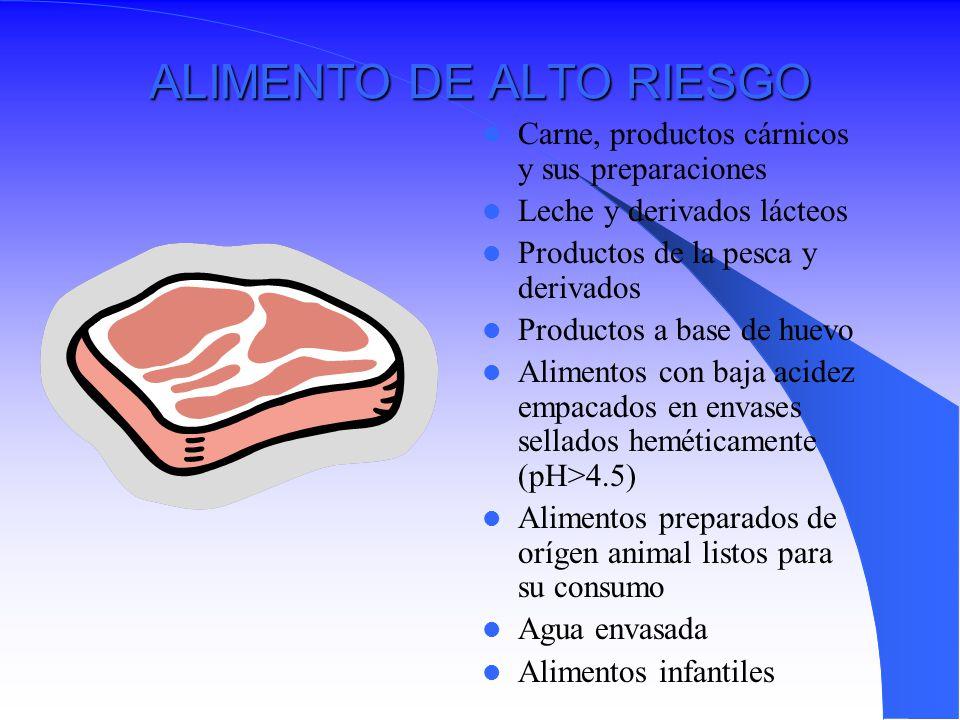 ALIMENTO DE ALTO RIESGO