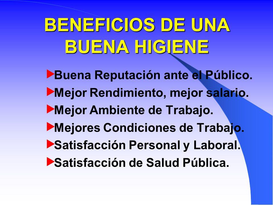 BENEFICIOS DE UNA BUENA HIGIENE
