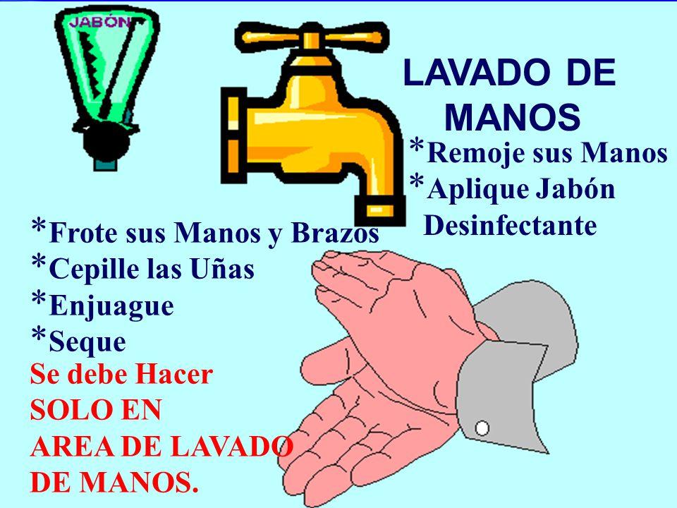 LAVADO DE MANOS Remoje sus Manos Aplique Jabón Desinfectante