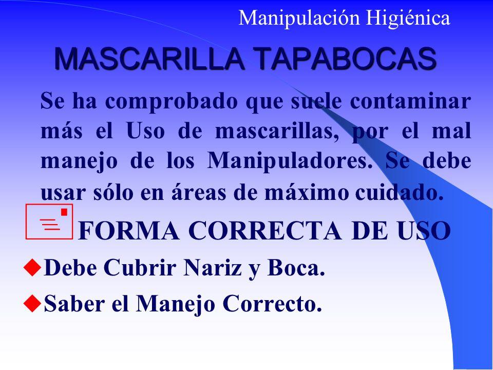 MASCARILLA TAPABOCAS FORMA CORRECTA DE USO