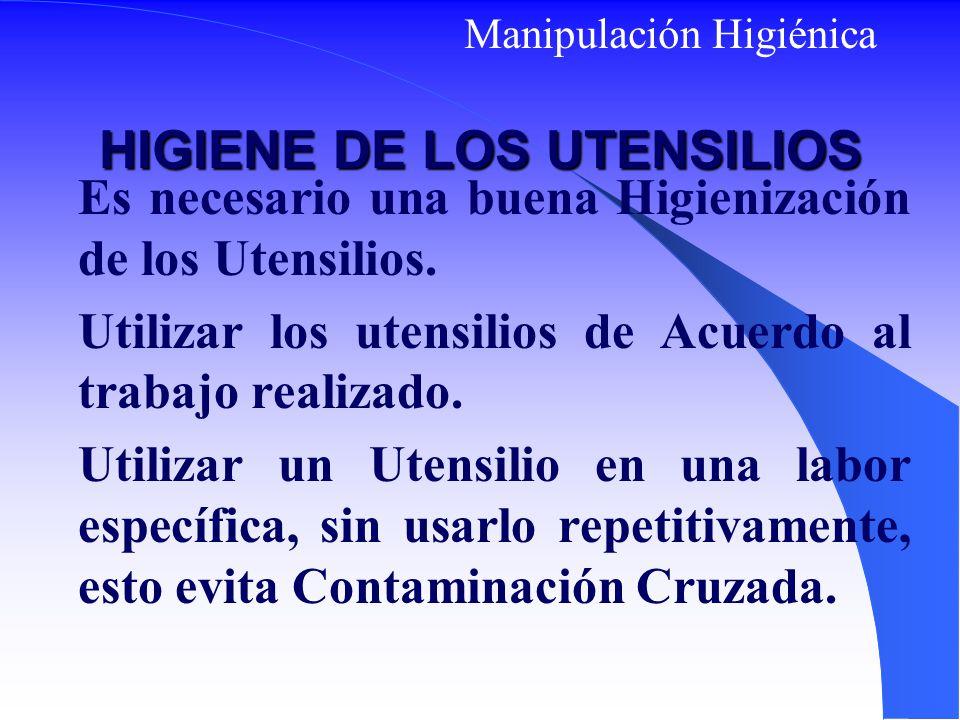 HIGIENE DE LOS UTENSILIOS