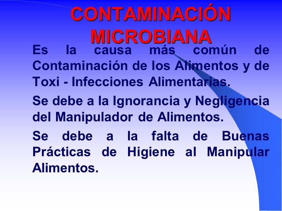CONTAMINACIÓN MICROBIANA