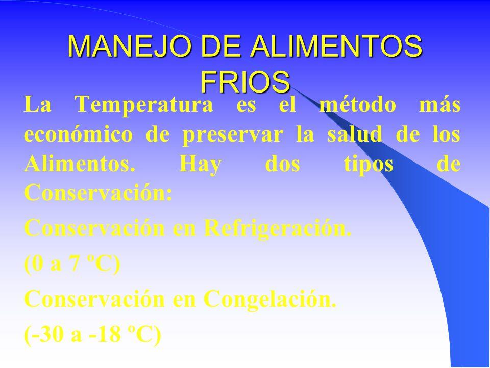 MANEJO DE ALIMENTOS FRIOS