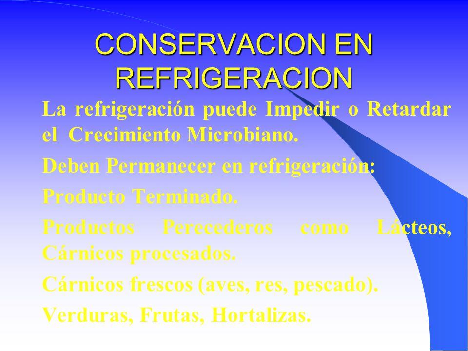 CONSERVACION EN REFRIGERACION