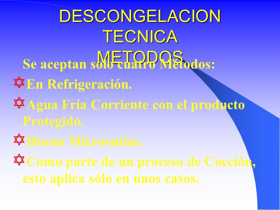 DESCONGELACION TECNICA METODOS
