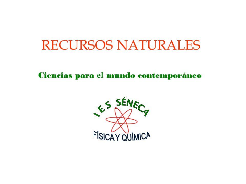 RECURSOS NATURALES Ciencias para el mundo contemporáneo