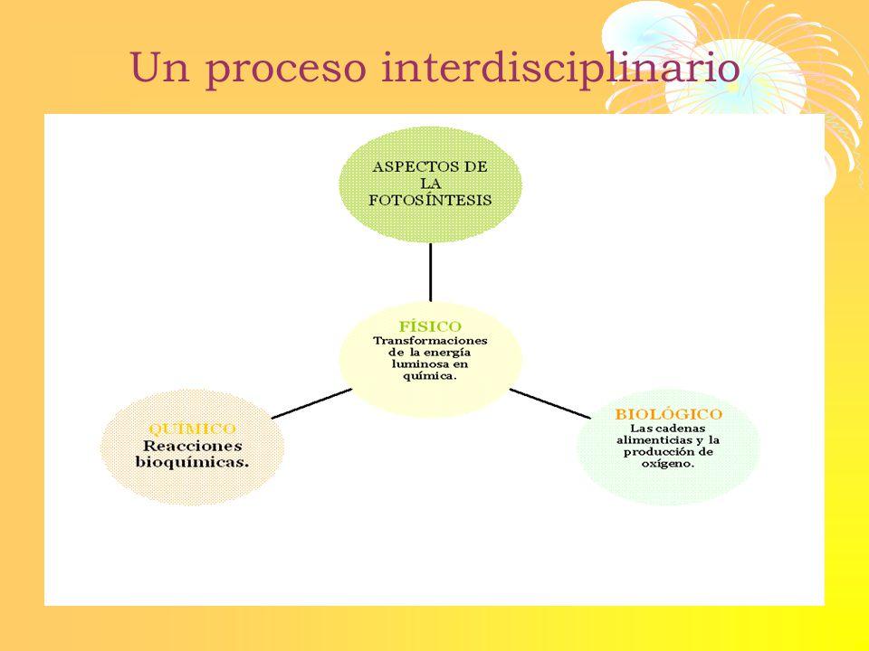 Un proceso interdisciplinario