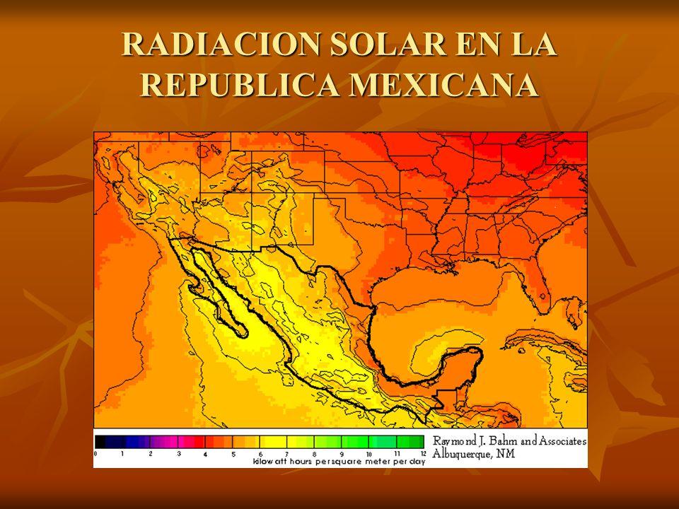 RADIACION SOLAR EN LA REPUBLICA MEXICANA